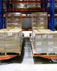 Frazier Industrial Company's Ergo Deep Pallet Racking stores cases at the Liberty Cold facility.