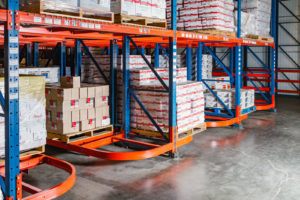 Frazier Industrial Company's Ergo Deep Racking in a Food Distribution Application