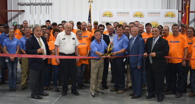 Frazier's Dyersburg Plant is officially welcomed to the greater Dyersburg community.