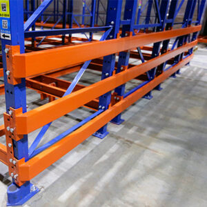 Row end protection on rack's outer frames.